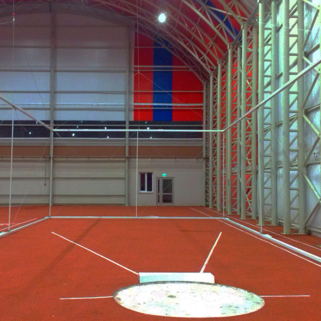 Indoor Track Shot Put Cage