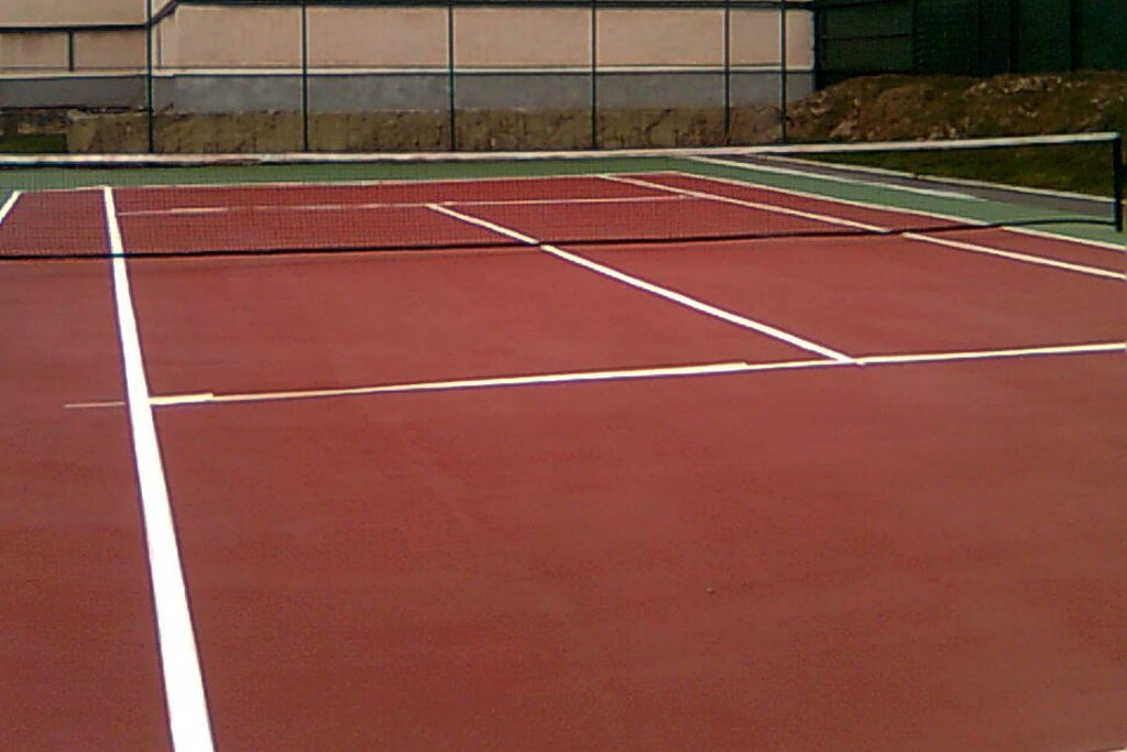 Acrylic Floor Tennis Court, completed by Reform Sports in Romania.